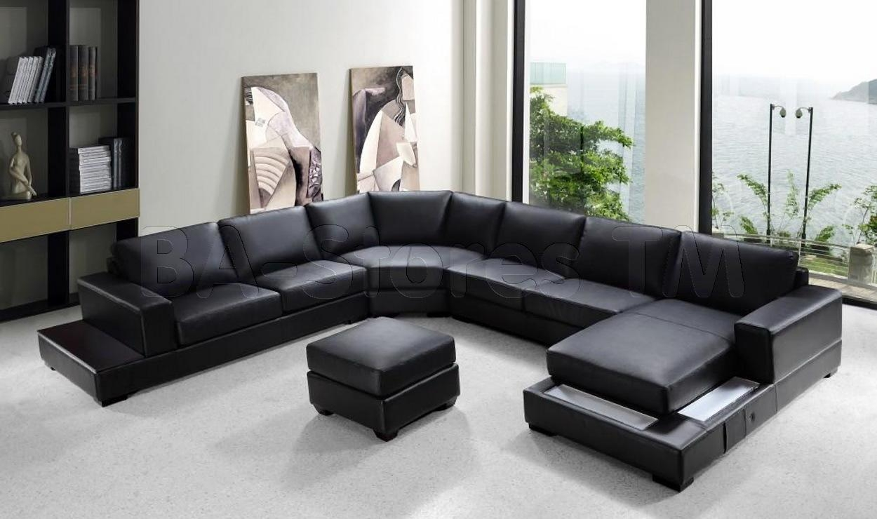 Modern Sectional Sofas With Chaise – Destroybmx Within Black Modern Sectional Sofas (View 13 of 20)