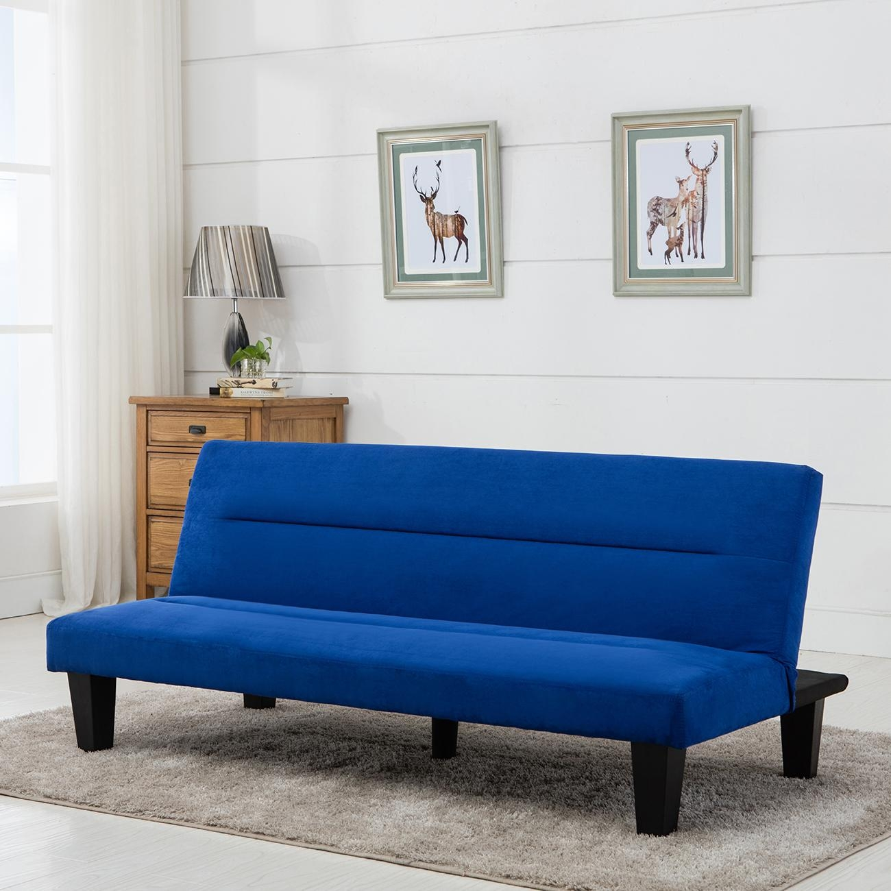 Modern Style Sofa Bed Futon Couch Sleeper Lounge Sleep Dorm Office Intended For Futon Couch Beds (Image 19 of 20)