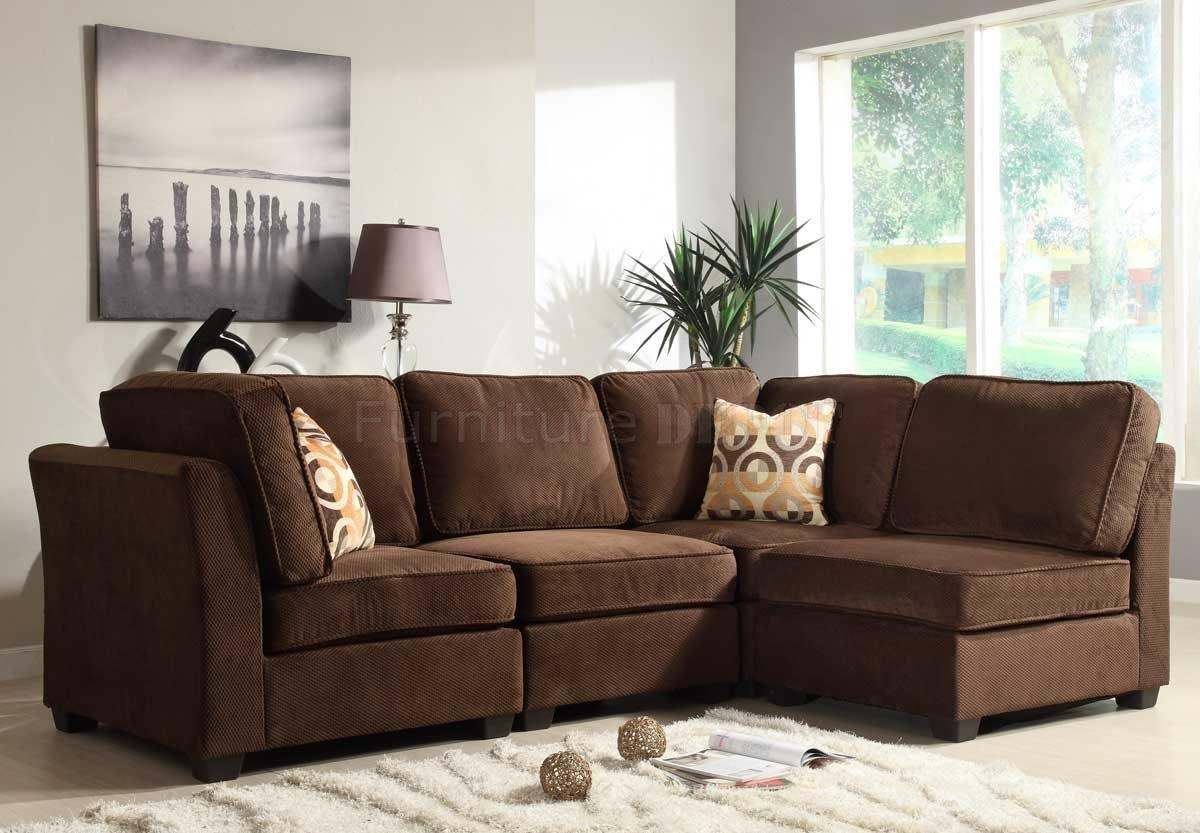 Modular Sectional Sofas For Small Es – Leather Sectional Sofa Pertaining To Small Modular Sectional Sofa (Image 11 of 20)