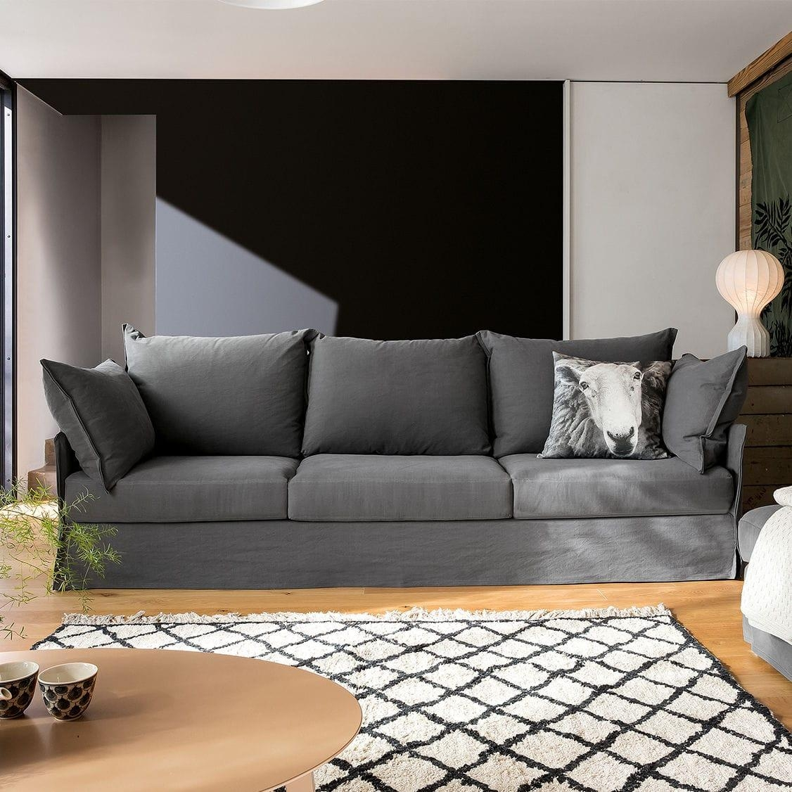 Modular Sofa / Contemporary / 3 Seater / With Removable Cover Inside Sofas With Removable Covers (Image 10 of 20)