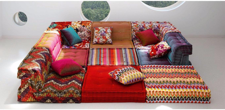 Modular Sofa / Contemporary / Fabric / 7 Seater And More – Mah Throughout Roche Bobois Mah Jong Sofas (Image 6 of 20)