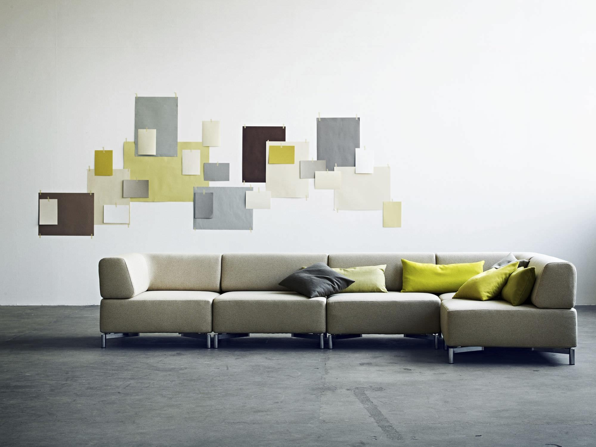 Modular Sofa / Contemporary / Fabric / With Removable Cover Within Sofas With Removable Covers (View 18 of 20)