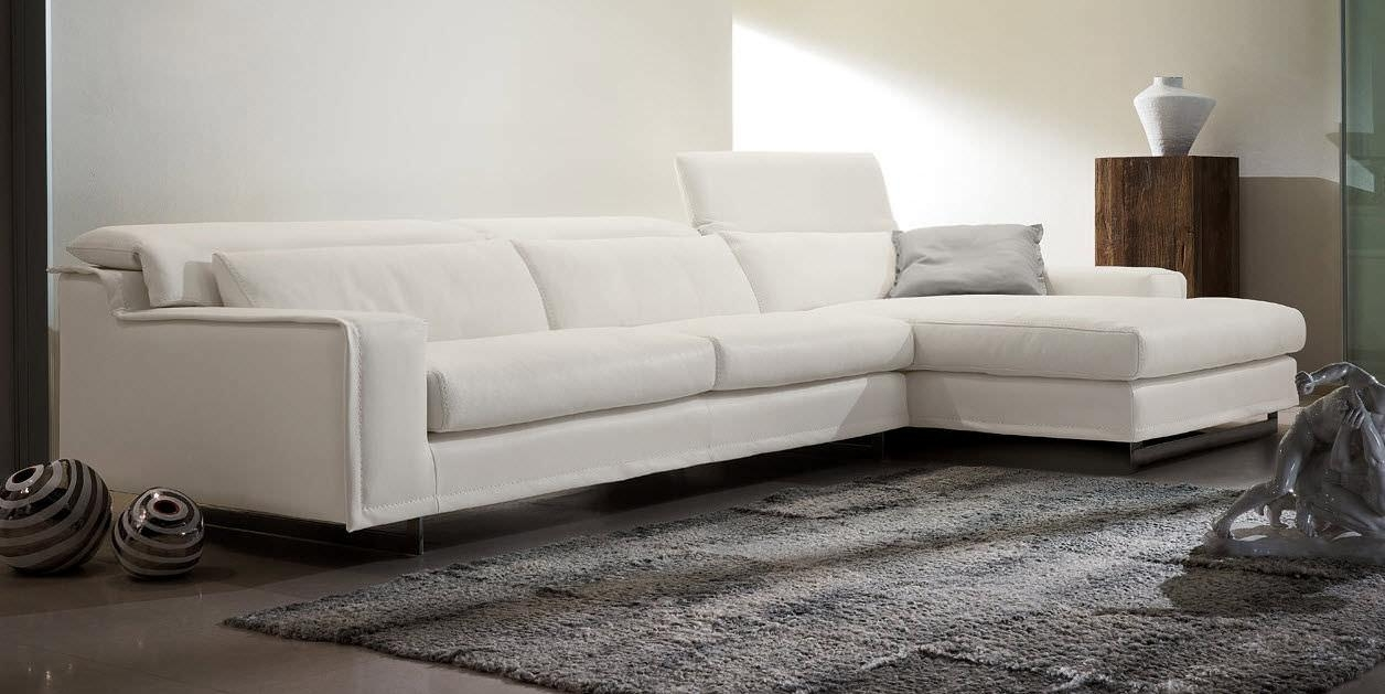 Modular Sofa / Contemporary / Leather / 3 Seater – Blues – Gamma Within White Leather Corner Sofa (Image 13 of 20)