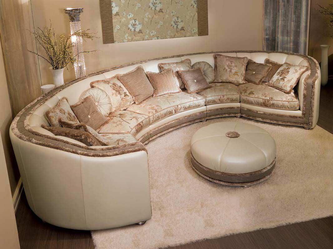 Modular Sofa / Semicircular / Classic / Fabric – Venere – Pigoli With Semicircular Sofa (View 16 of 20)