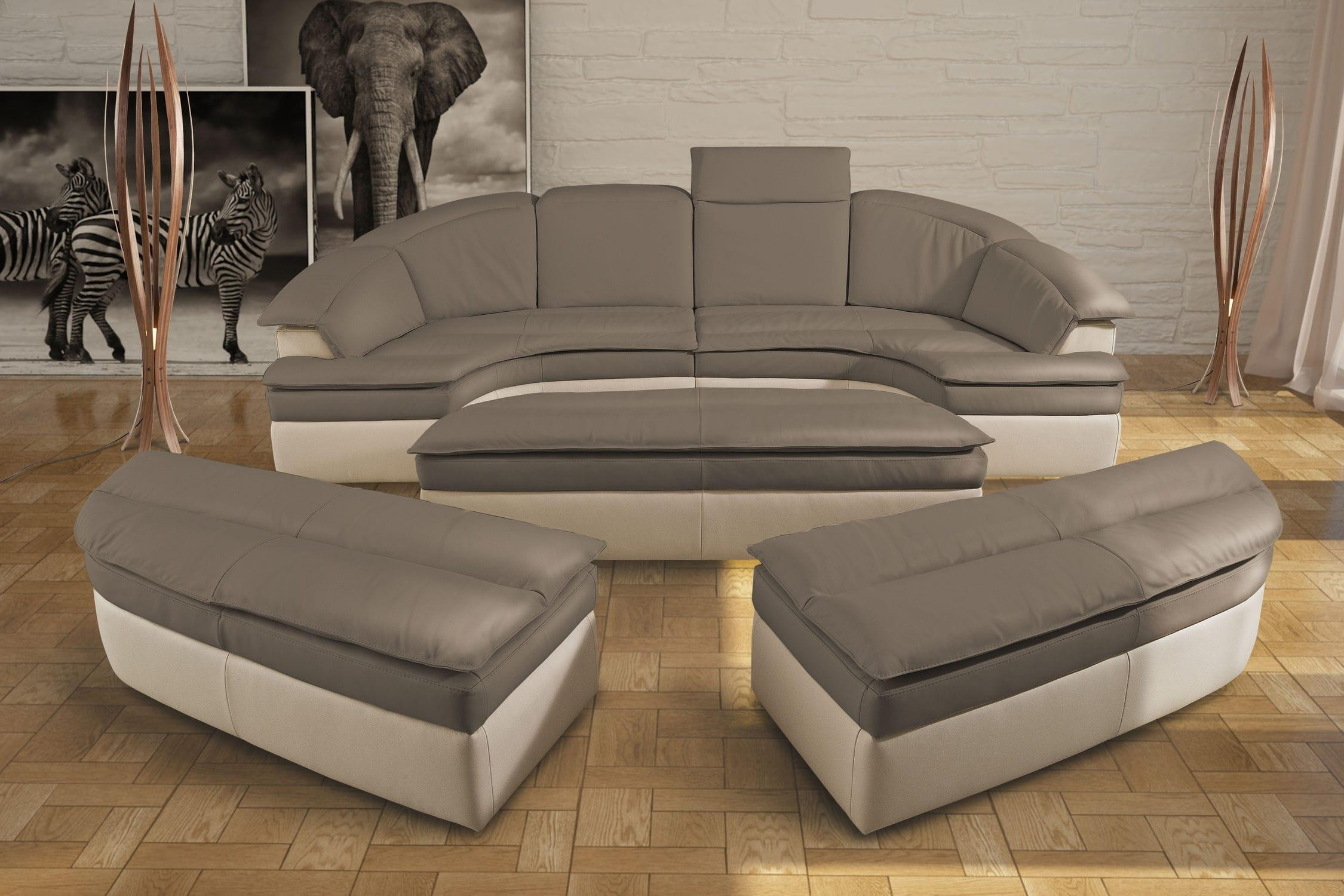 Modular Sofa / Semicircular / Contemporary / Leather – Galaxy With Regard To Semicircular Sofa (Image 6 of 20)