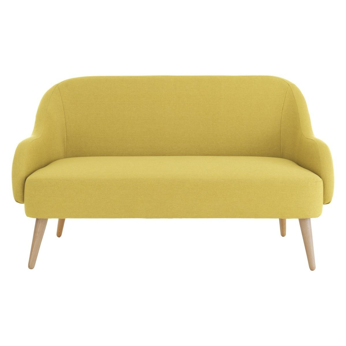 Momo Saffron Yellow Fabric 2 Seater Sofa | Buy Now At Habitat Uk Regarding Yellow Sofa Chairs (Image 13 of 20)