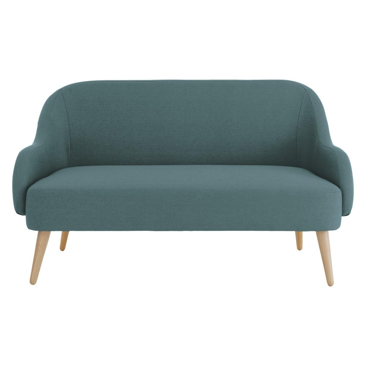 Momo Teal Blue Fabric 2 Seater Sofa | Buy Now At Habitat Uk For Two Seater Sofas (Image 12 of 20)