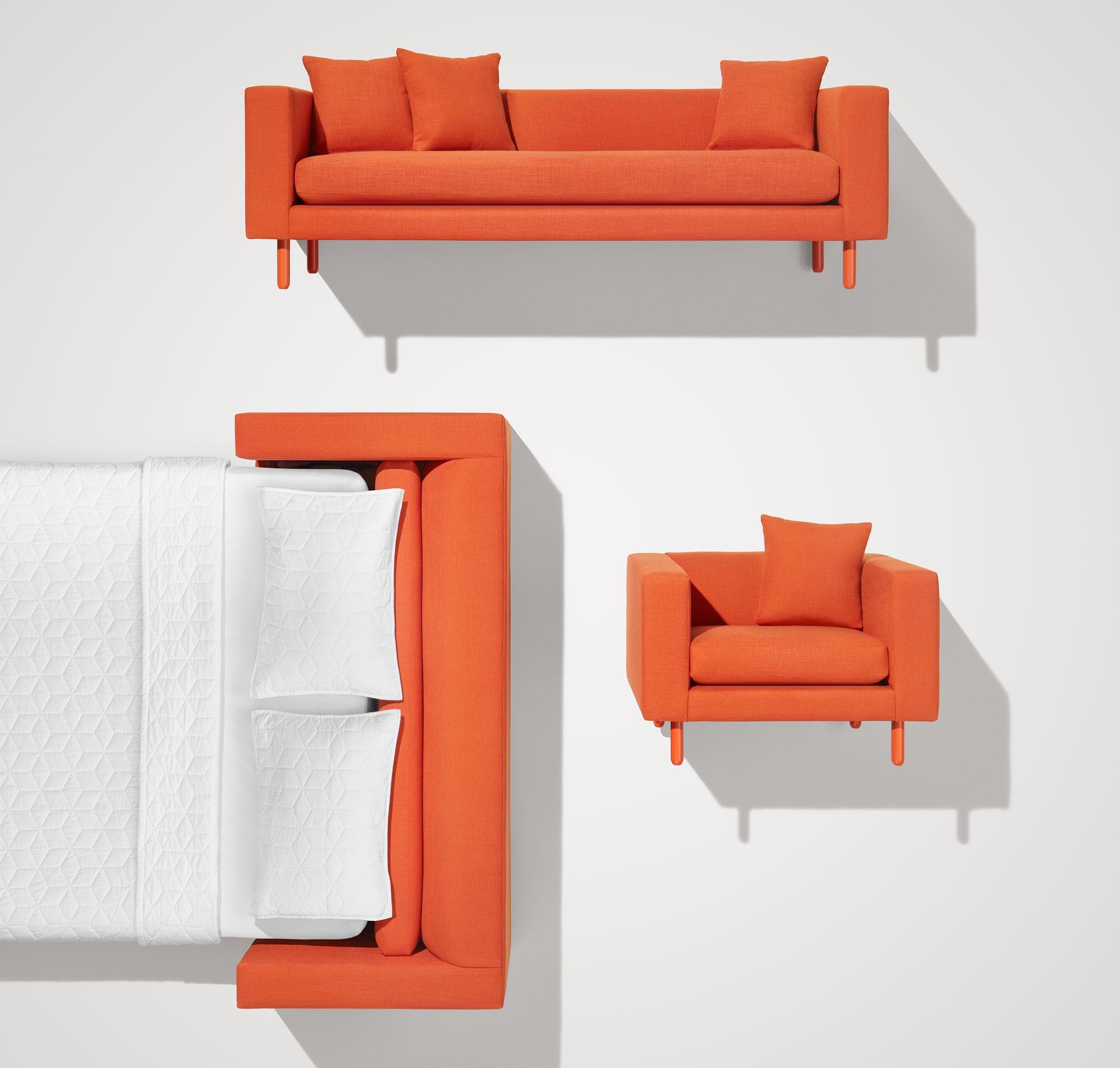 Mono Modern Sleeper Sofa – Single Cushion Sofa | Blu Dot In Blu Dot Sleeper Sofas (Image 6 of 20)