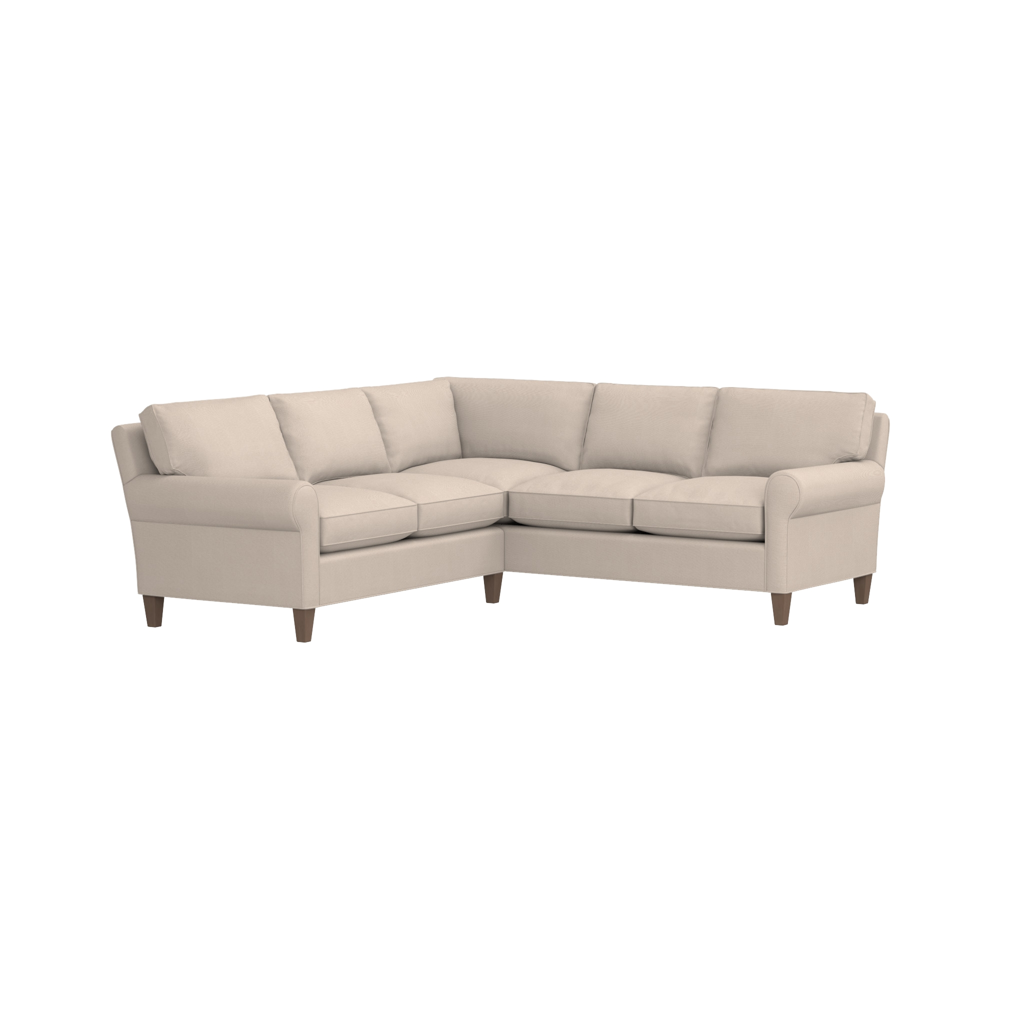 Montclair 2 Piece Sectional Sofa | Crate And Barrel Regarding Crate And Barrel Sectional (Image 14 of 15)