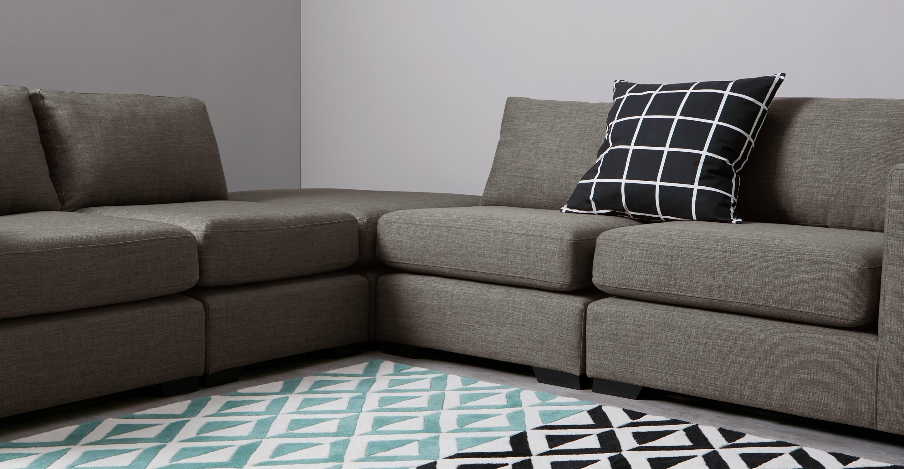 Mortimer Modular Corner Sofa Group, Chalk Grey | Made Inside Modular Corner Sofas (View 7 of 20)