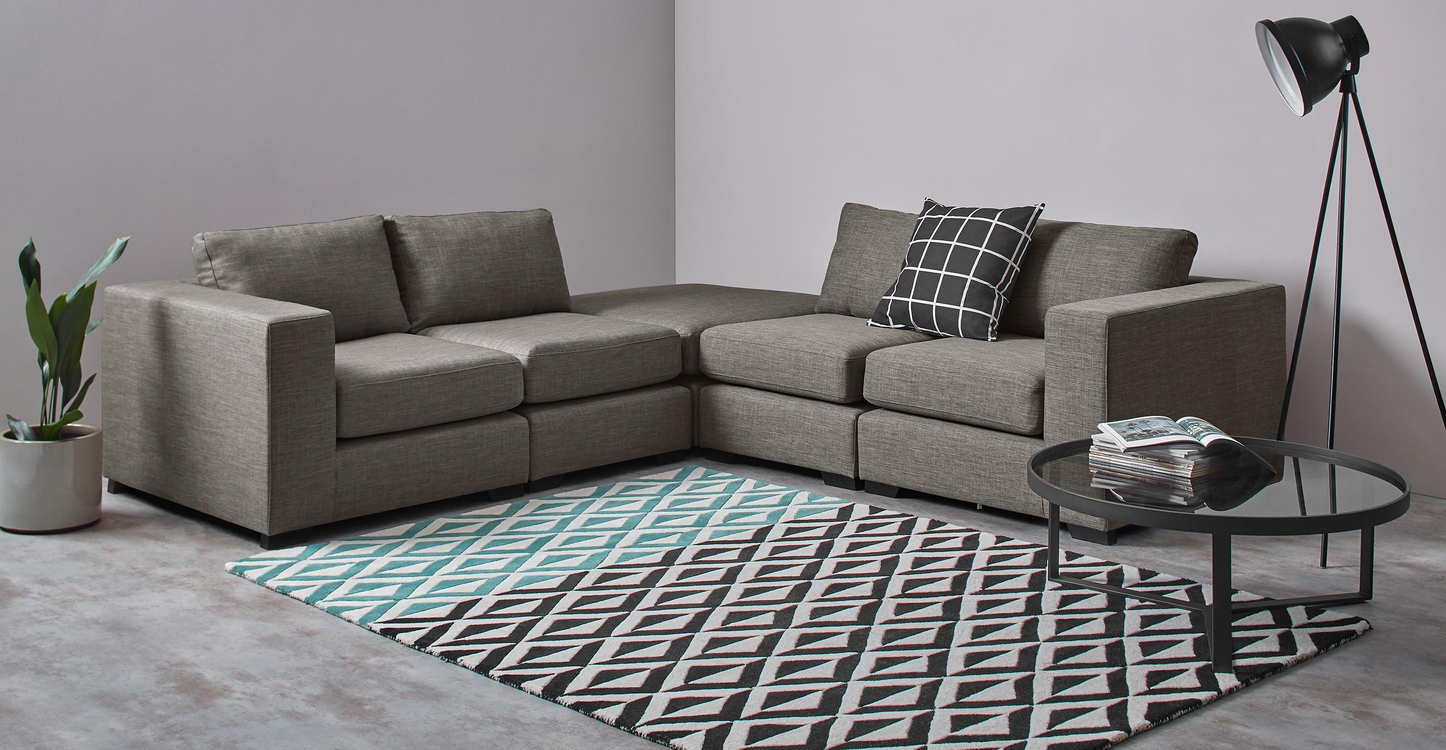 Mortimer Modular Corner Sofa Group, Chalk Grey | Made Intended For Modular Corner Sofas (View 13 of 20)