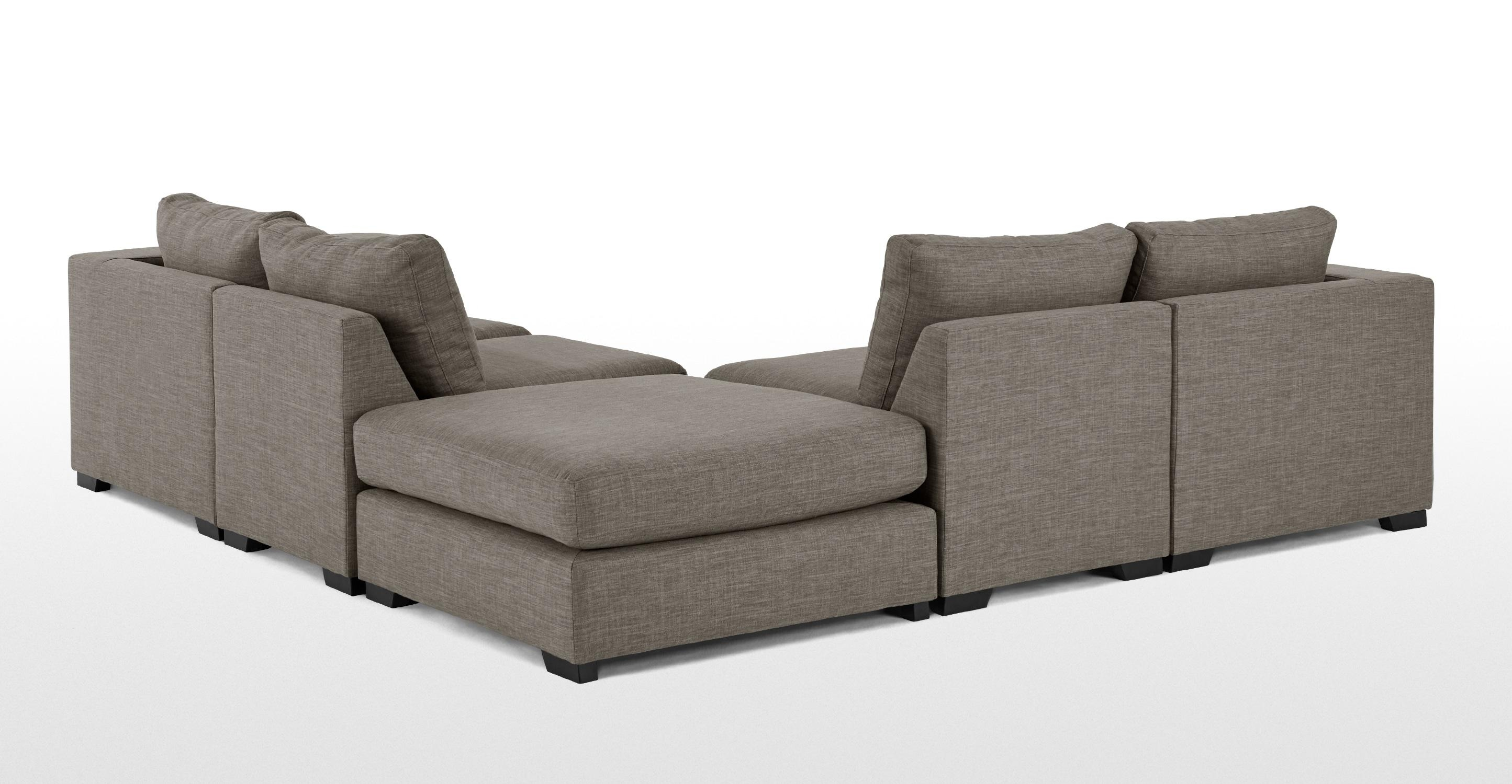 Mortimer Modular Corner Sofa Group, Chalk Grey | Made Pertaining To Modular Corner Sofas (View 10 of 20)