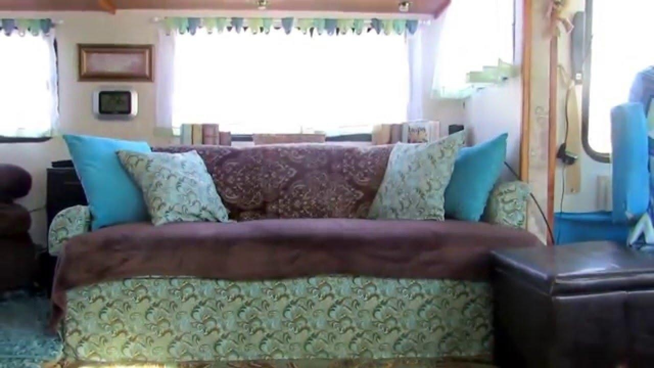 Motorhome Jack Knife Sofa Recover – Youtube Throughout Reupholster Sofas Cushions (Image 7 of 20)
