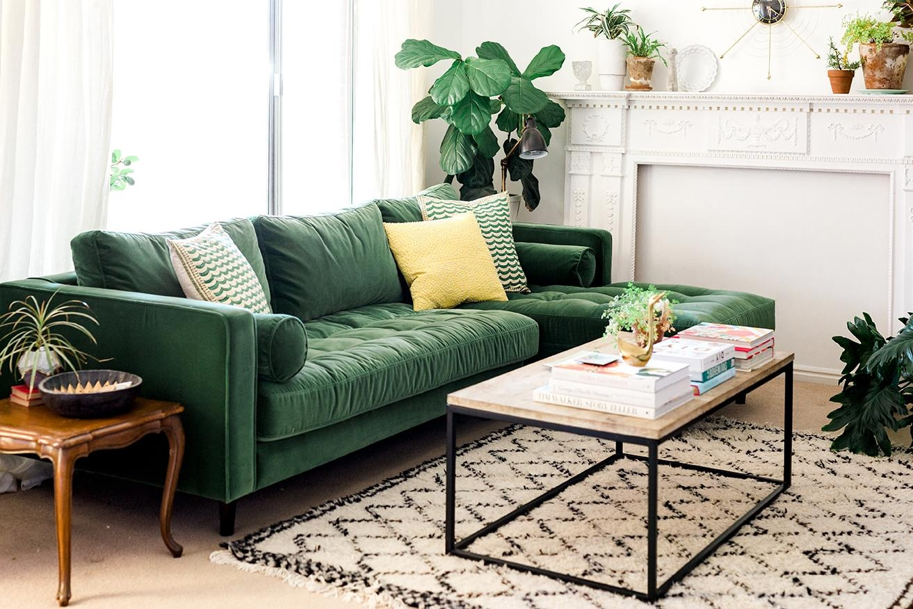My New Green Sofa – The House That Lars Built Intended For Green Sofas (View 7 of 20)