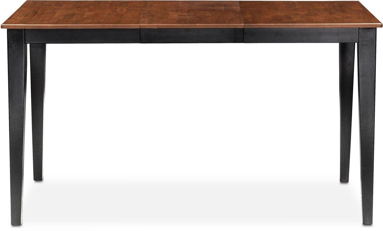 Nantucket Counter-Height Table - Black And Cherry | Value City pertaining to Counter Height Sofa Tables