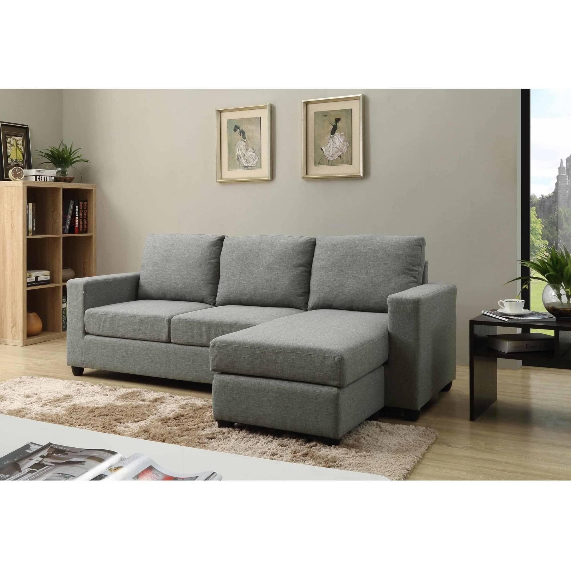 Nathaniel Home Alexandra Small Space Convertible Sectional Intended For Convertible Sectional (Image 8 of 15)