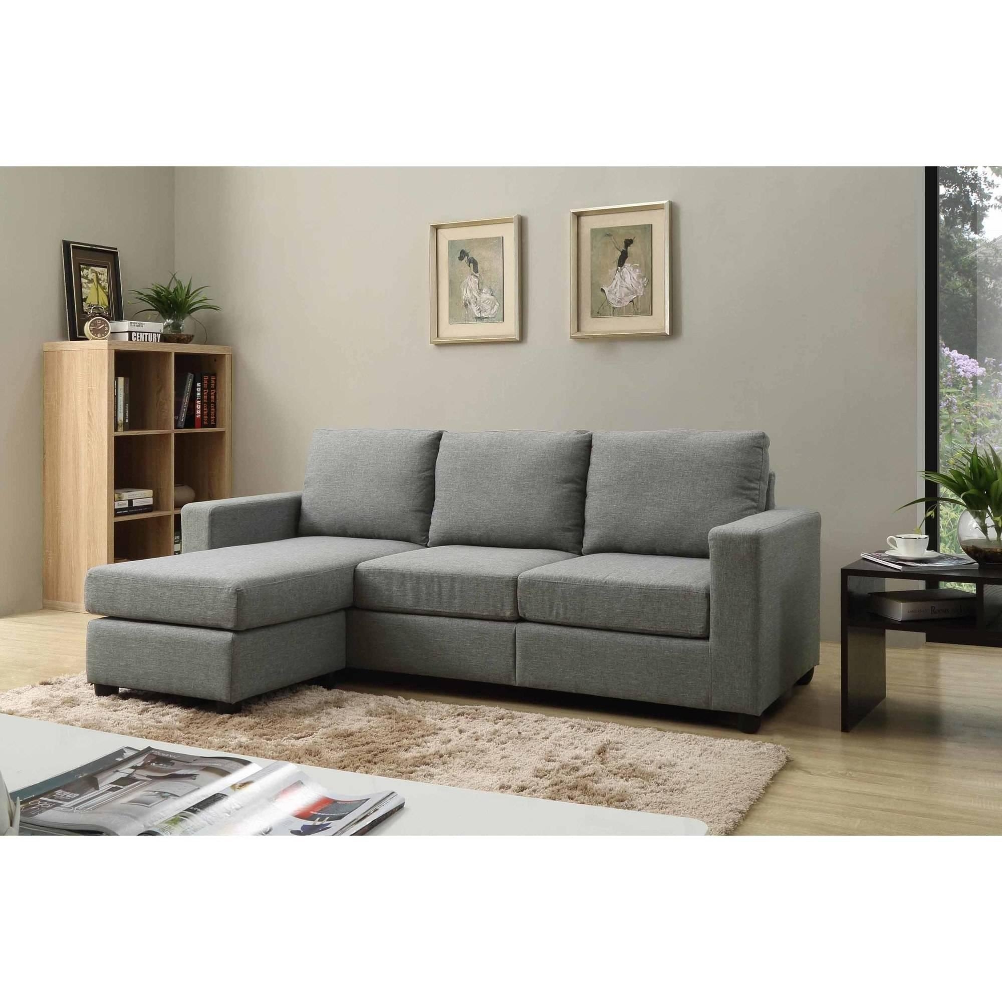 Nathaniel Home Alexandra Small Space Convertible Sectional regarding Convertible Sectional Sofas