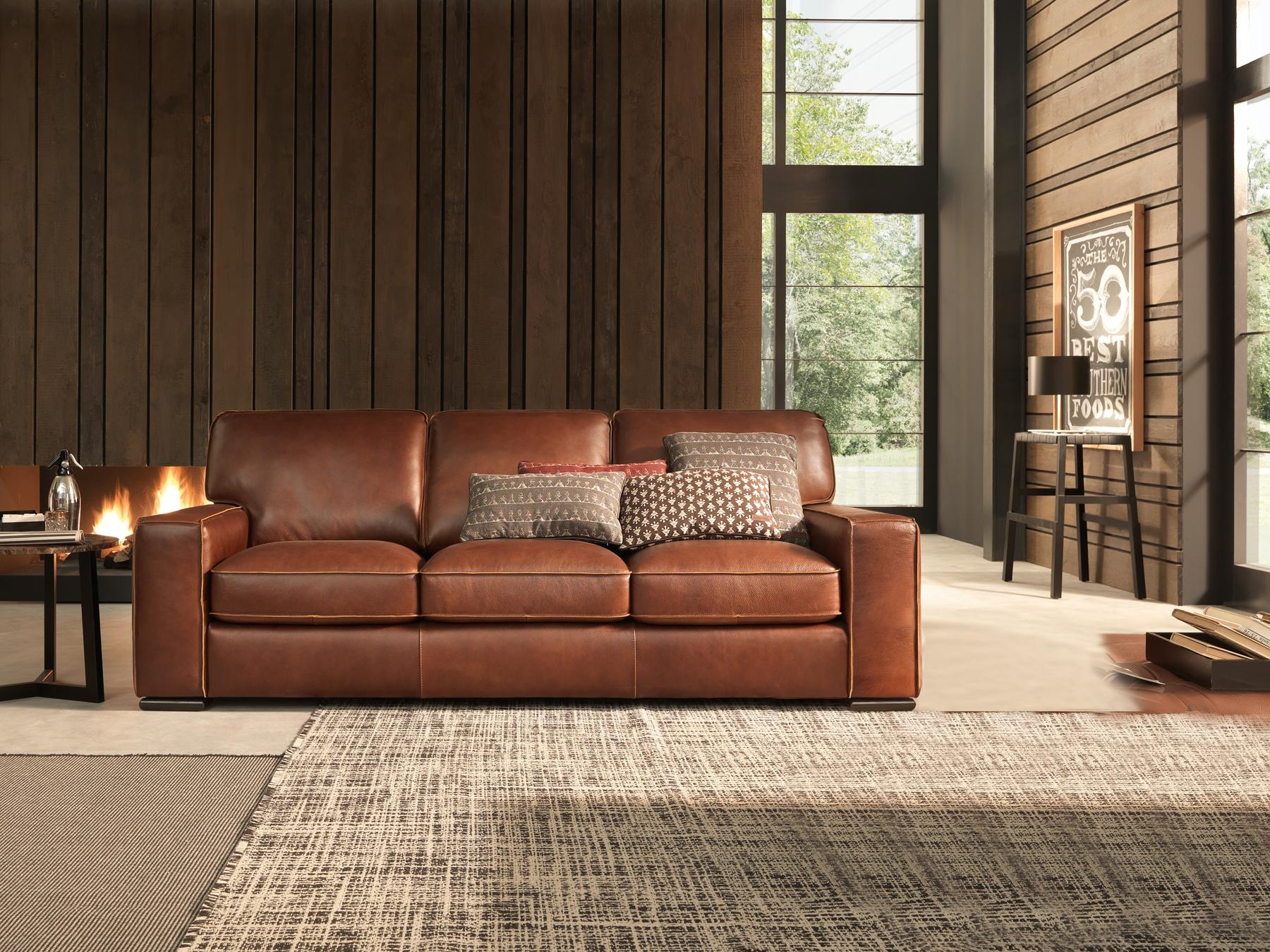 Natuzzi Italian Leather Sofa | Sofa Gallery | Kengire throughout Italian Leather Sofas