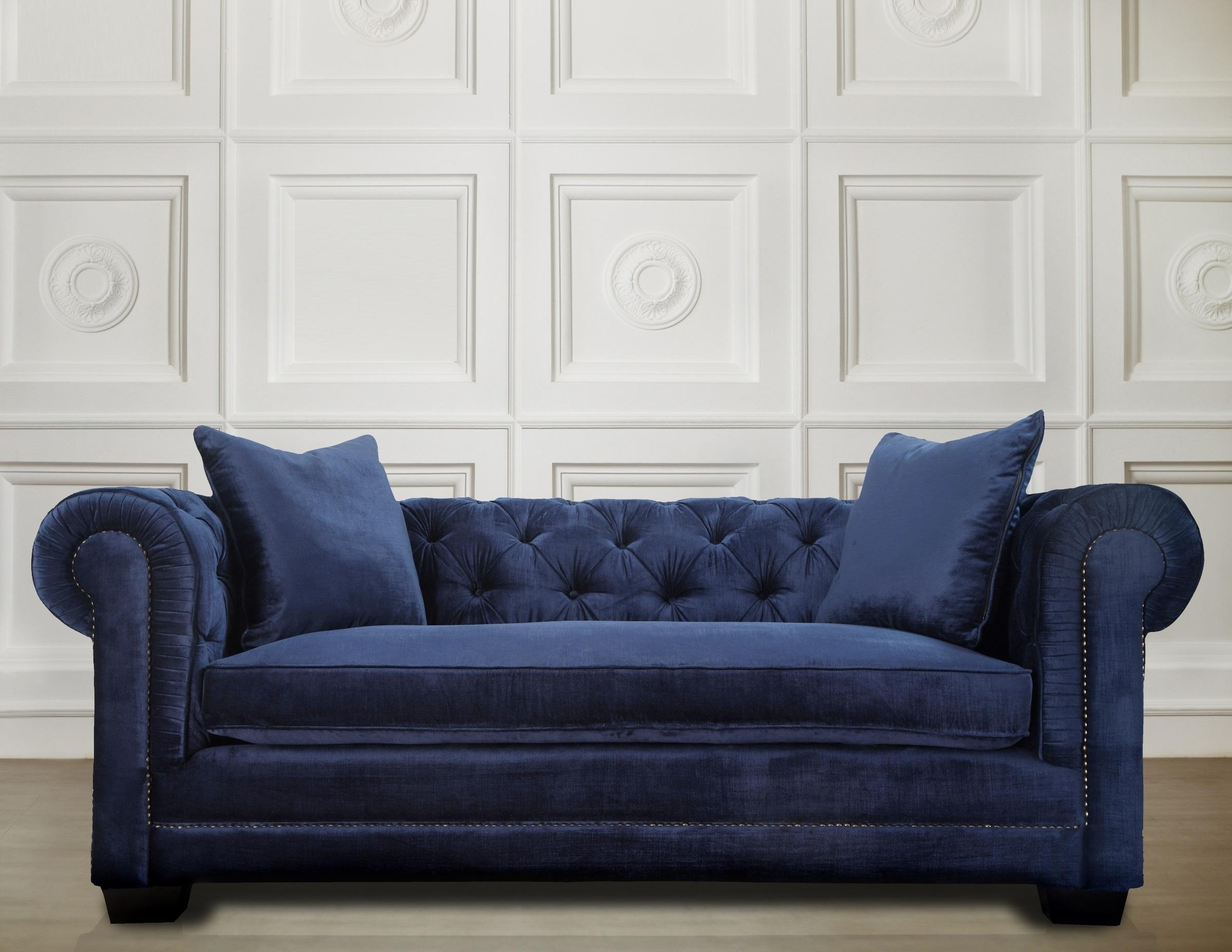 Navy Blue Sofa And Loveseat | Tehranmix Decoration Regarding Blue Sofa Chairs (Image 15 of 20)