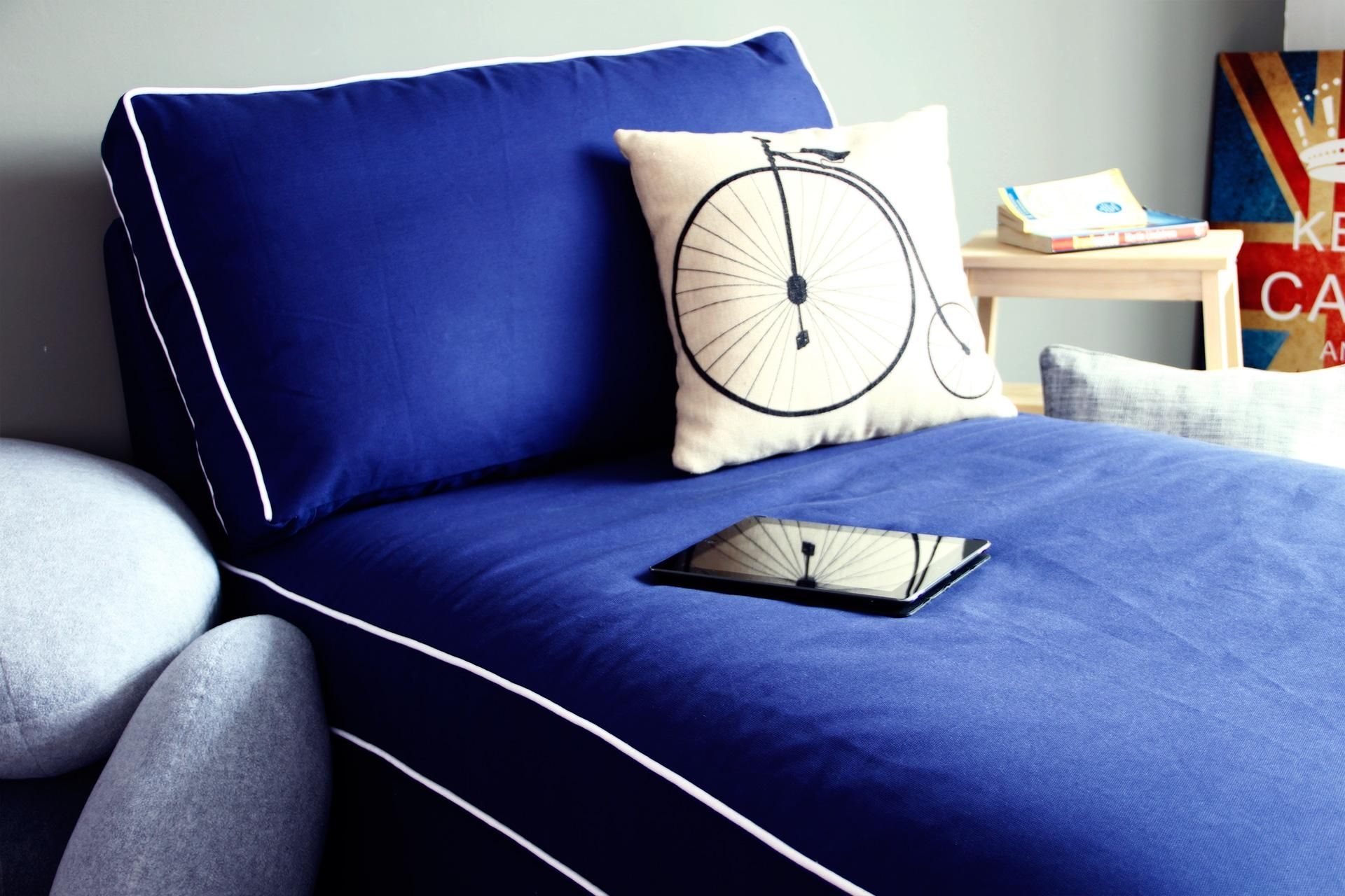 Navy Blue Sofa Covers | Tehranmix Decoration Inside Navy Blue Slipcovers (Image 10 of 20)