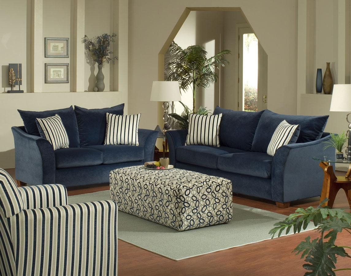 Navy Blue Sofa - Hypnofitmaui in Living Room With Blue Sofas