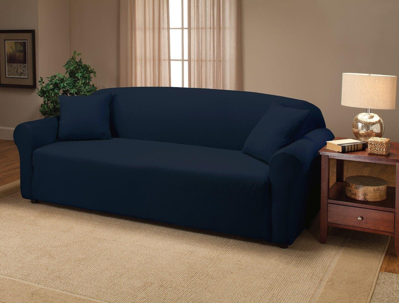 Navy Blue Sofa Slipcovers | Tehranmix Decoration Regarding Navy Blue Slipcovers (Image 11 of 20)