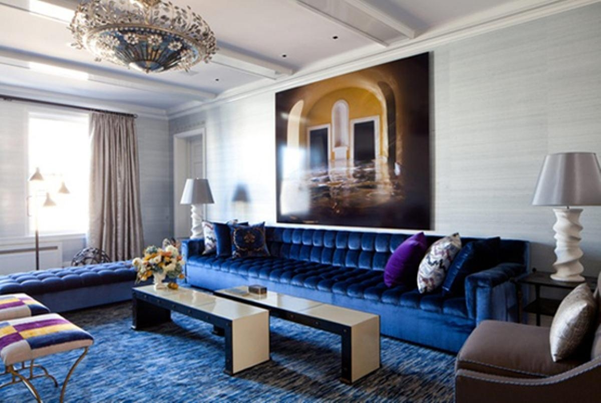 Navy Blue Sofas Decorating | Tehranmix Decoration Intended For Dark Blue Sofas (Image 11 of 20)