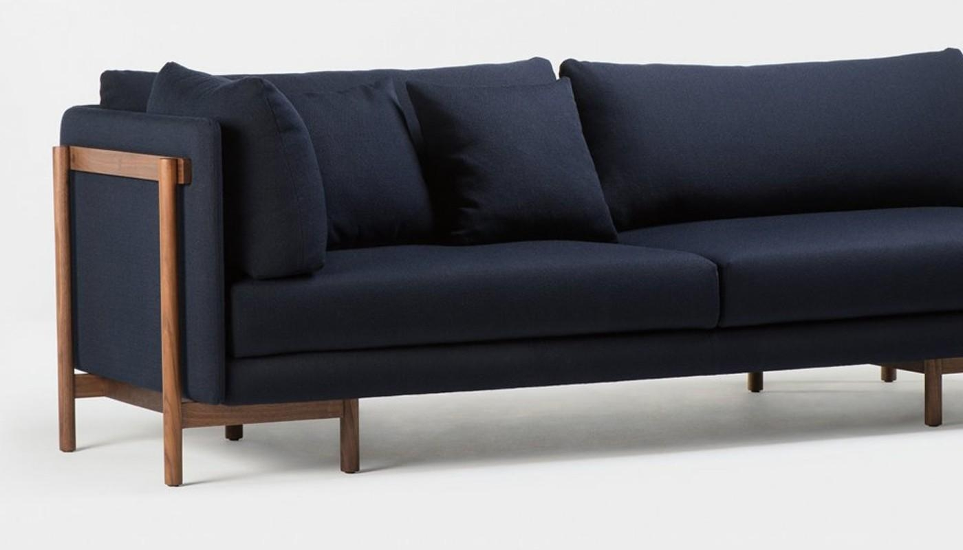 Neri & Hu Frame Corner Unit Sofa Walnut within Crate And Barrel Sofa Sleepers