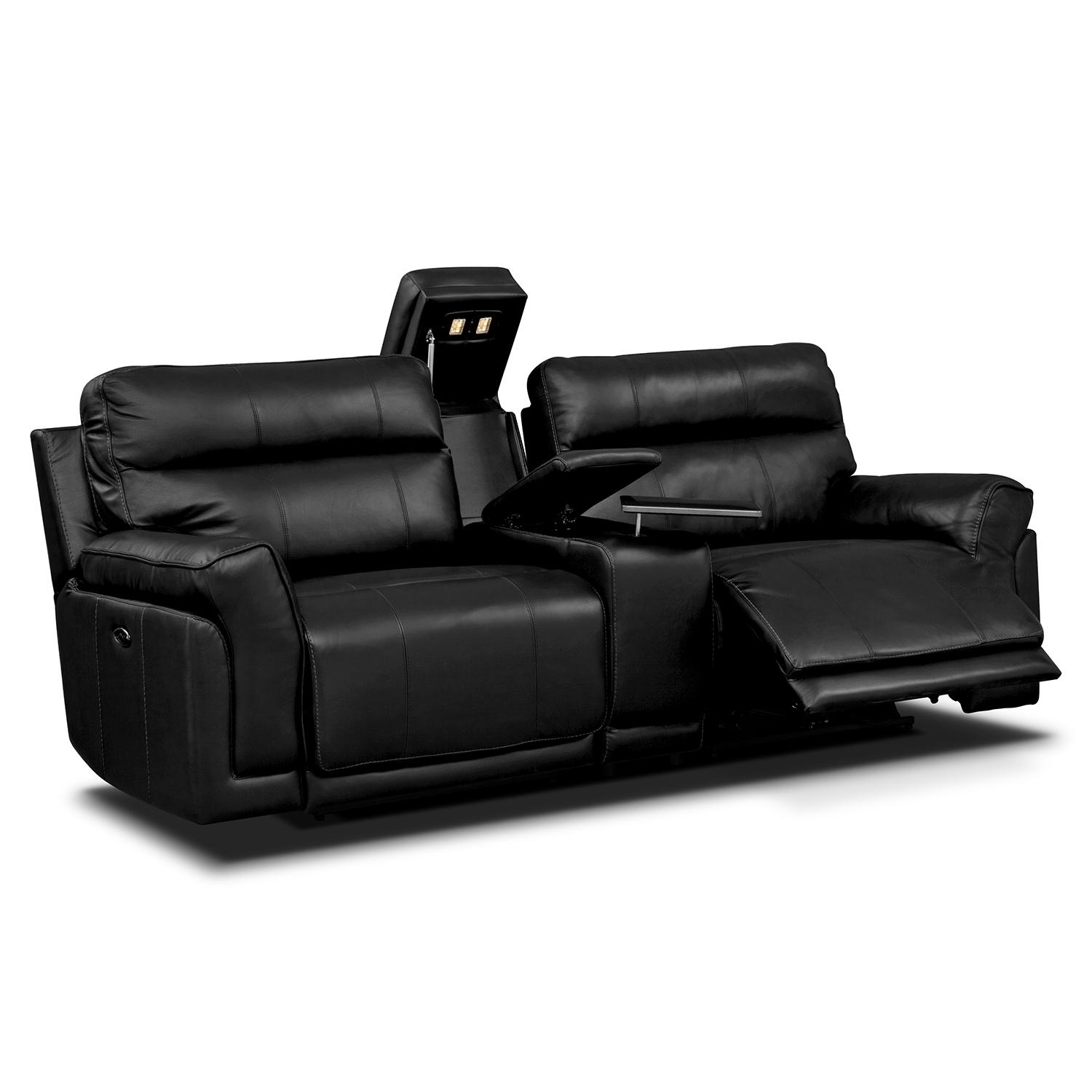 New Double Recliner Sofa With Console 17 Sofas And Couches Set for Sofas With Console