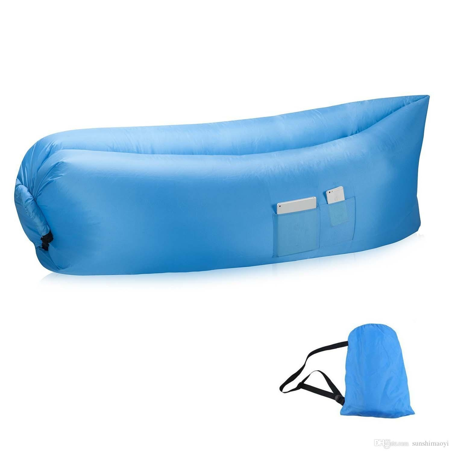 New Most Popular Lay Bag Air Bed Sofa Inflatable Air Bags Sleeping Regarding Sleeping Bag Sofas (View 2 of 20)
