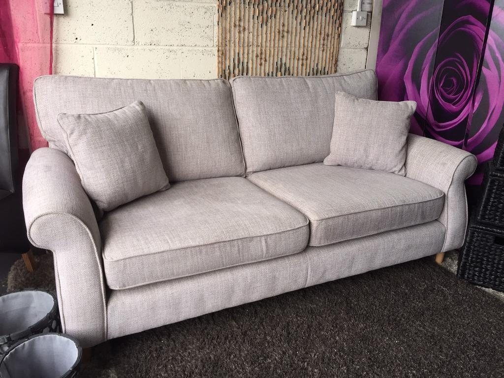 New Next Ashford Large 3 Seater Sofa In Textured Weave Light Grey for Ashford Sofas