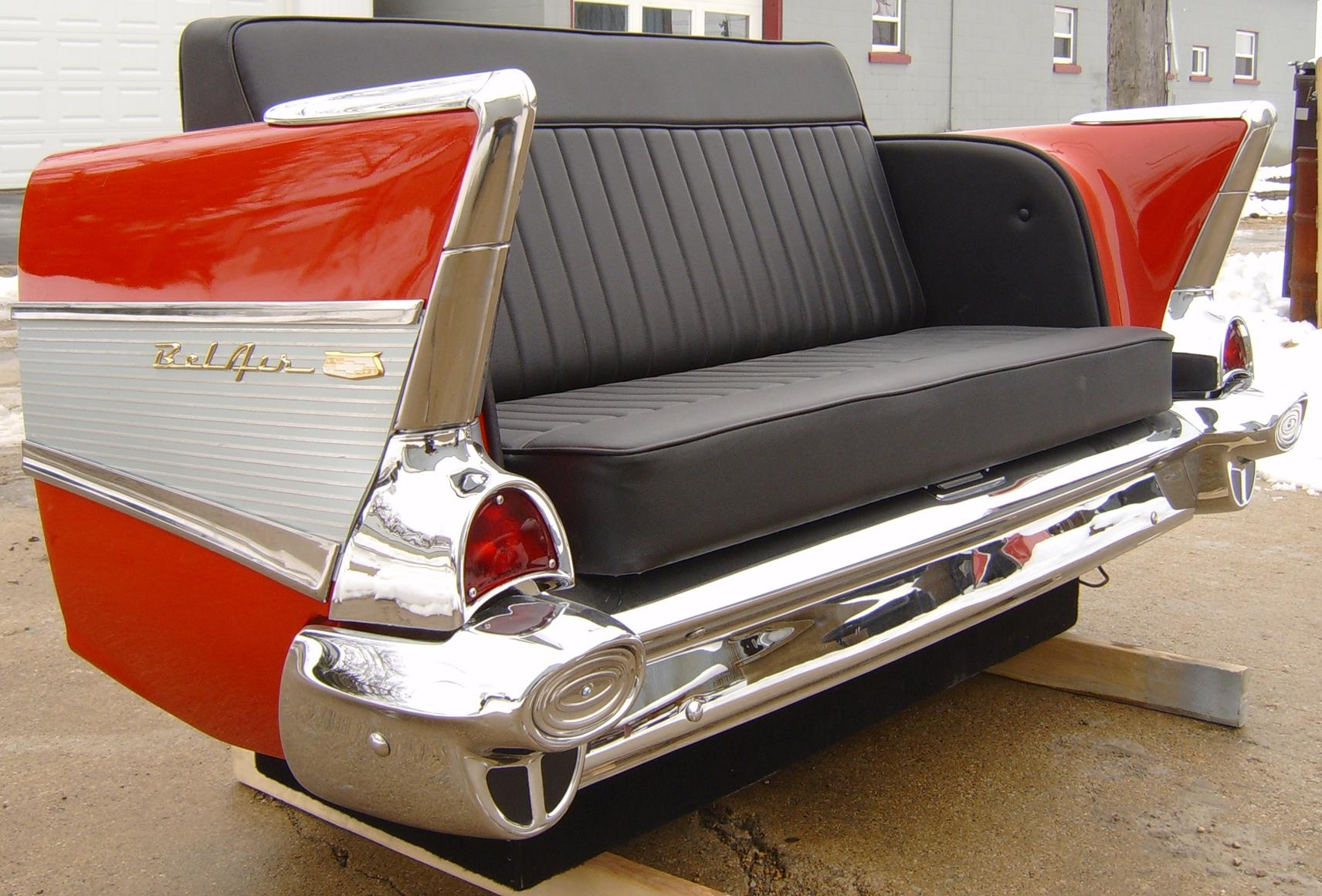 New Retro Cars : Restored Classic Car Furniture And Decor within Classic Sofas for Sale