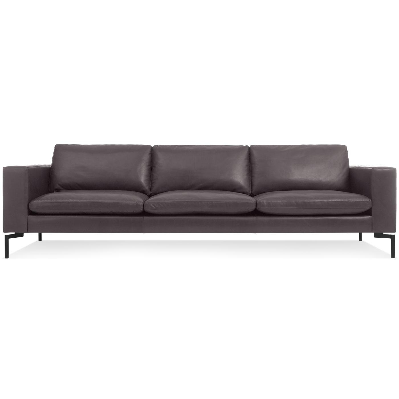 New Standard 104 Inch Leather Sofa - Modern Sofas And Sectionals with 4 Seat Leather Sofas