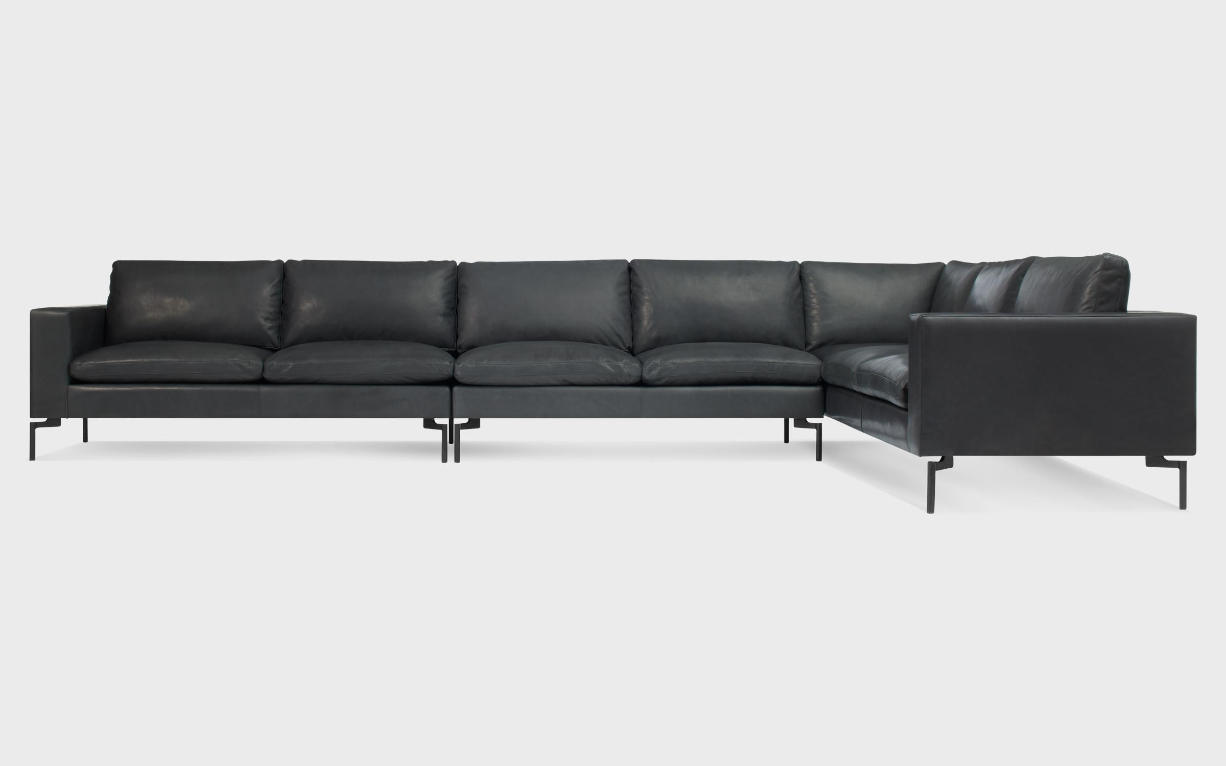 New Standard Large Leather Right Sectional Sofa | Blu Dot Pertaining To High Quality Leather Sectional (Image 11 of 20)