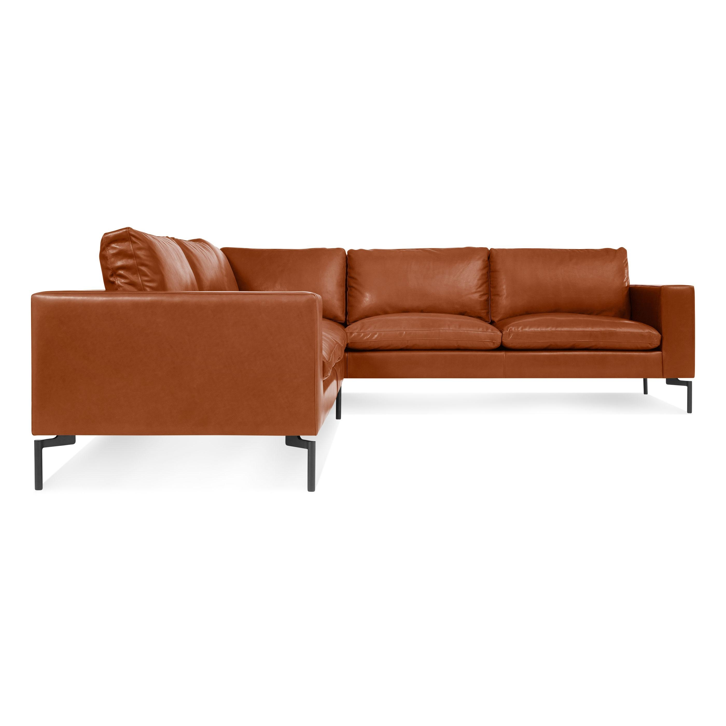 New Standard Small Leather Sectional – Modern Leather Sofa | Blu Dot pertaining to Modern Small Sectional Sofas