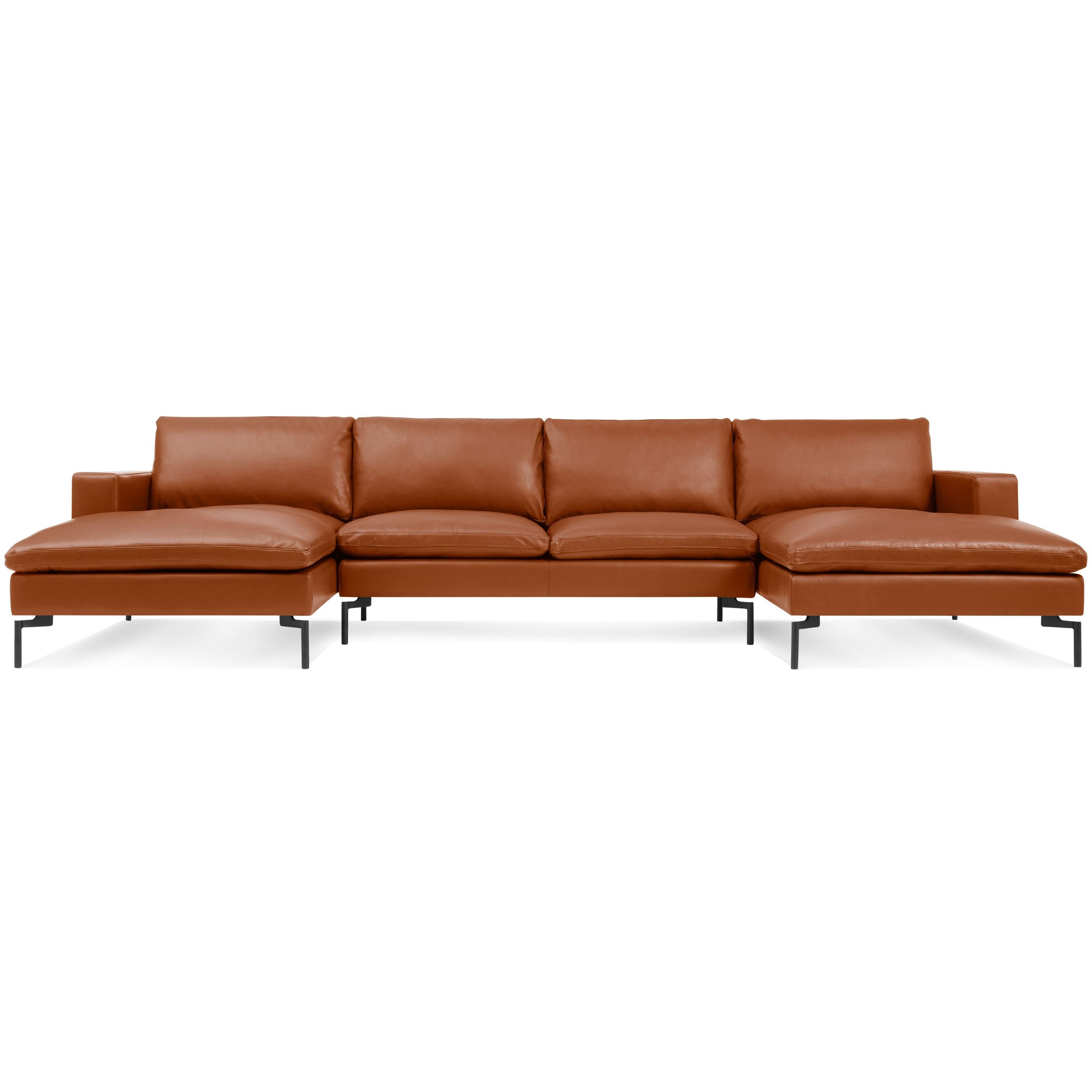 New Standard U-Shaped Leather Sectional Sofa | Blu Dot inside U Shaped Leather Sectional Sofa