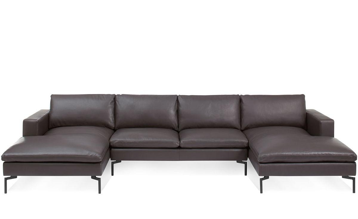 New Standard U Shaped Leather Sectional Sofa - Hivemodern throughout U Shaped Leather Sectional Sofa