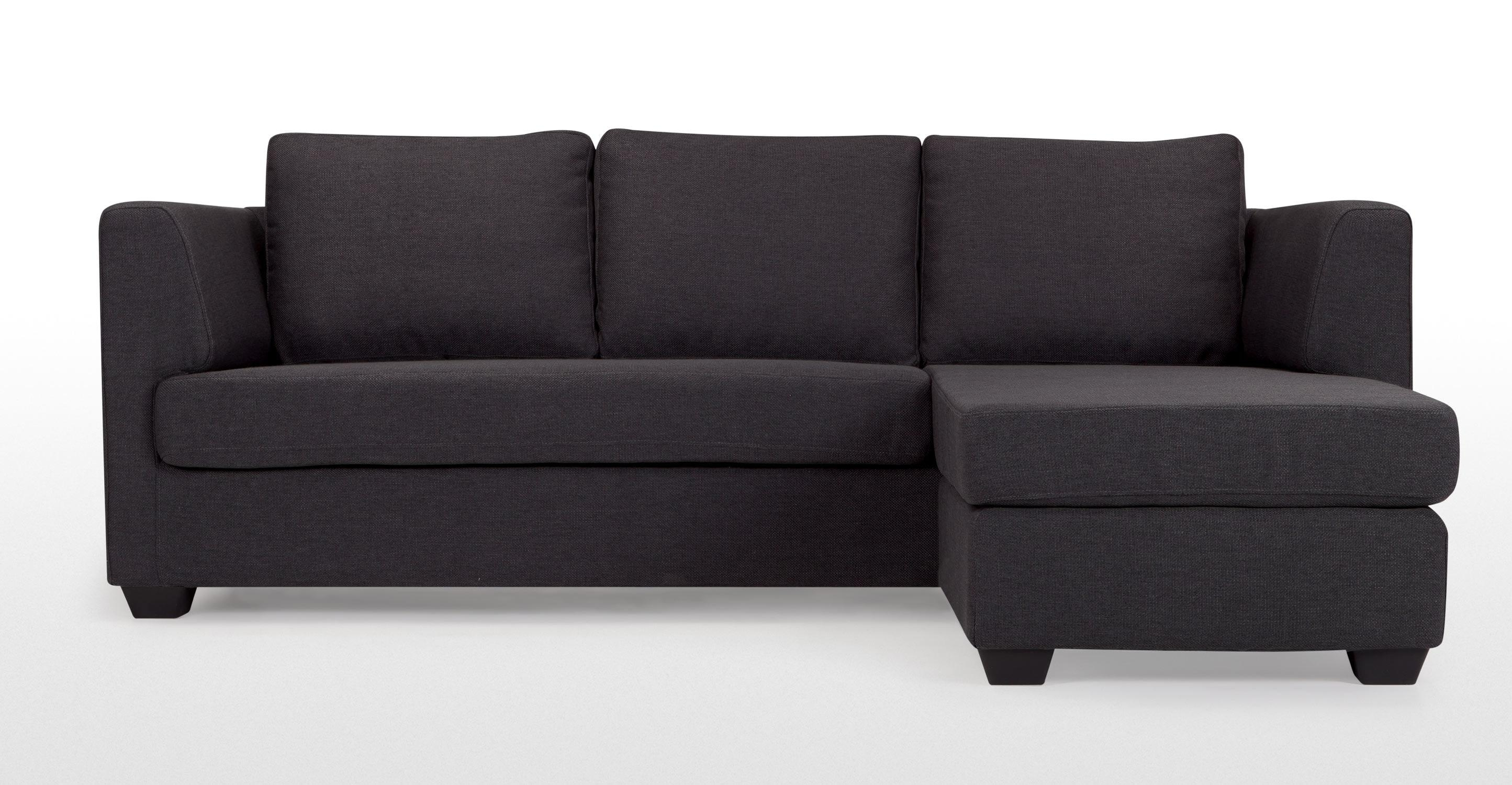 Newark Charcoal Grey Corner Sofa | Made Inside Charcoal Grey Sofas (View 9 of 20)