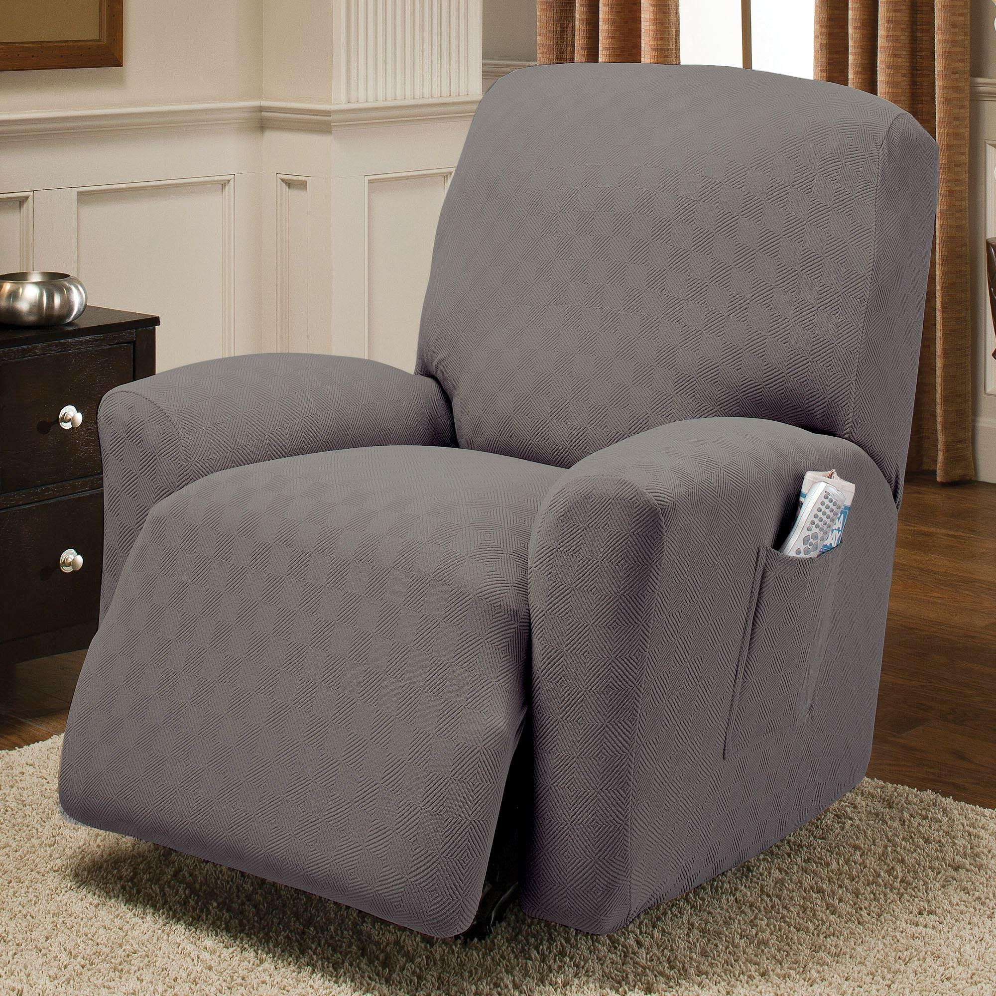 Newport Stretch Jumbo Recliner Slipcovers for Stretch Covers For Recliners