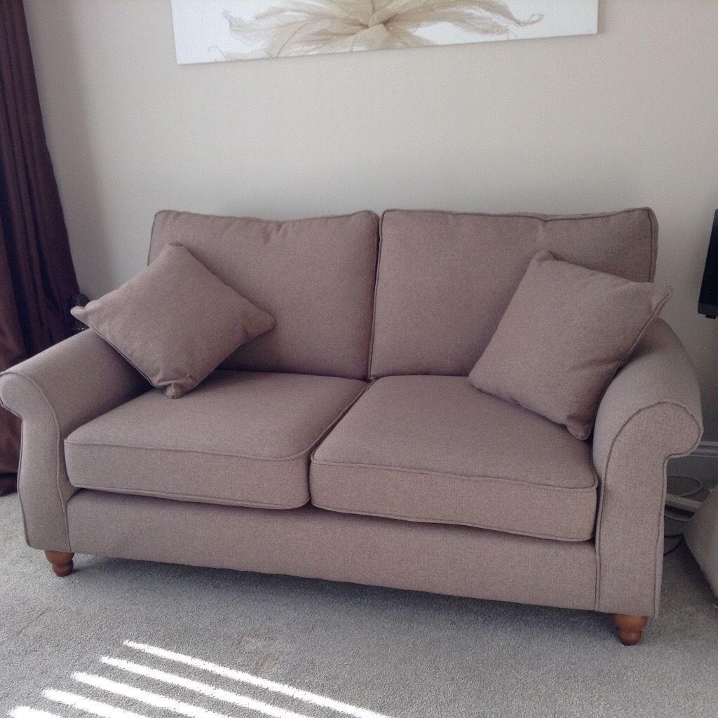 Next Ashford Sofa Medium Tweedy Blend Mid Natural 3 Seater | In Within Ashford Sofas (Image 16 of 20)