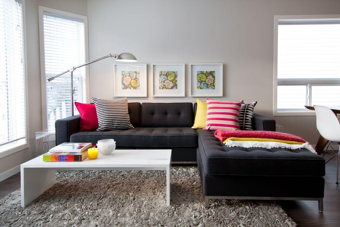 Nice Looking Black Couch Living Room Imposing Decoration 20 With Black Sofas Decors (View 3 of 20)