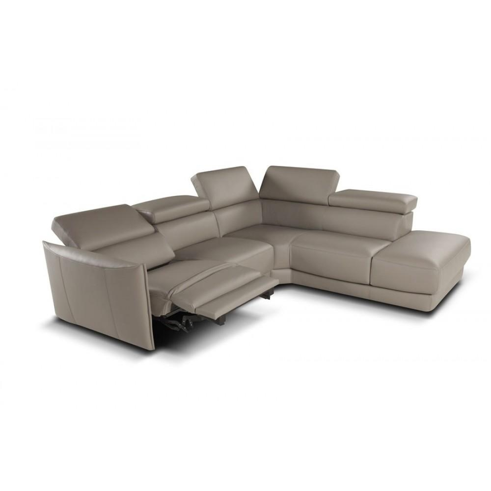 Nicoletti Megan Sectional Sofa With Electric Recliner, Nicoletti pertaining to Sectional Sofas With Electric Recliners