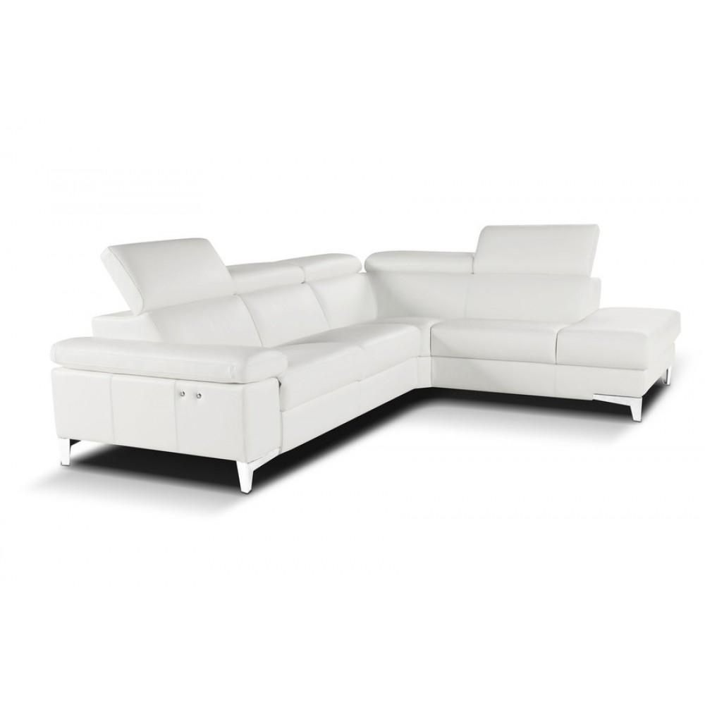Nicoletti Megan Sectional Sofa With Electric Recliner, Nicoletti regarding Sectional Sofas With Electric Recliners