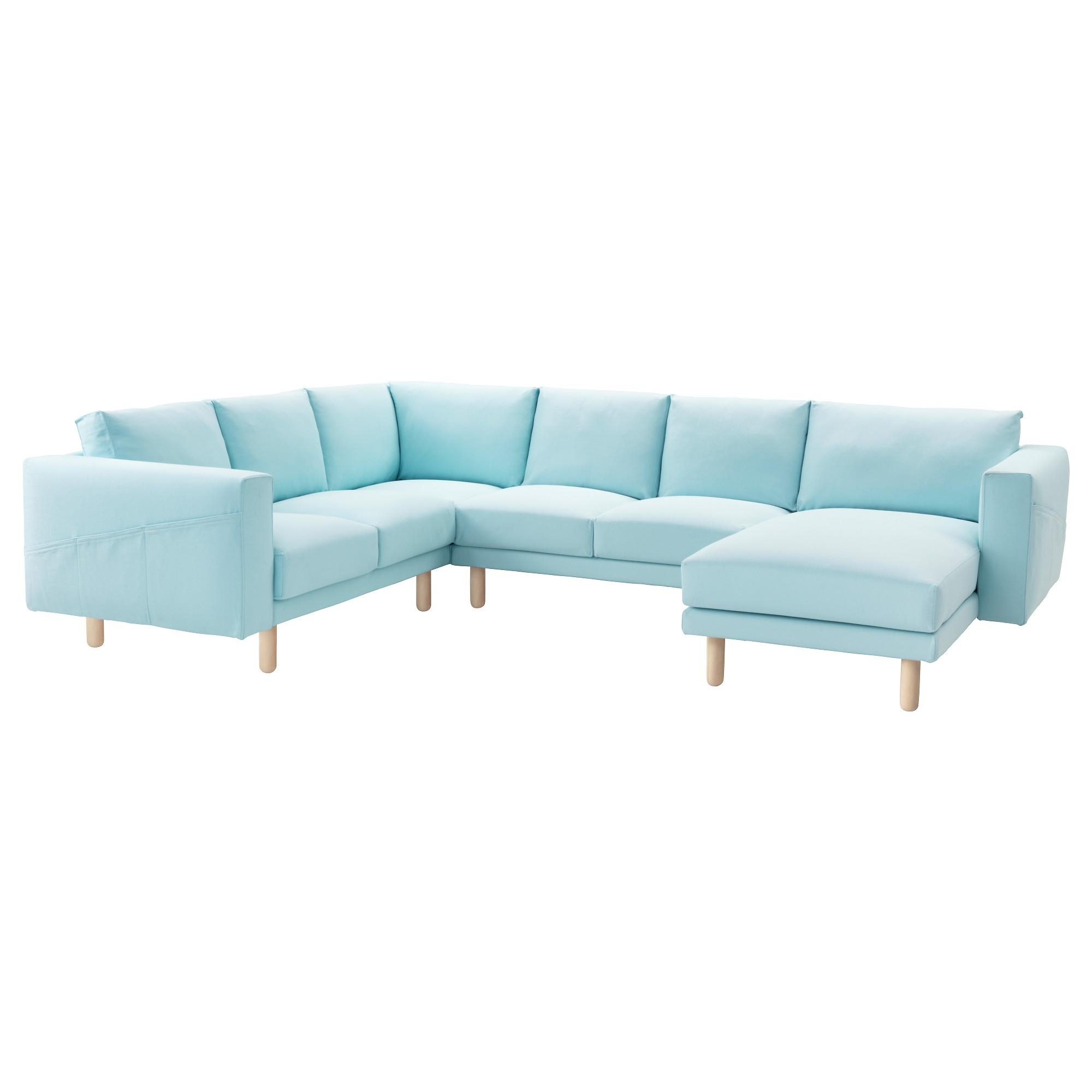 Norsborg Corner Sofa 2+2 With Chaise Longue Gräsbo Light Blue Throughout Corner Sofas (Image 14 of 20)