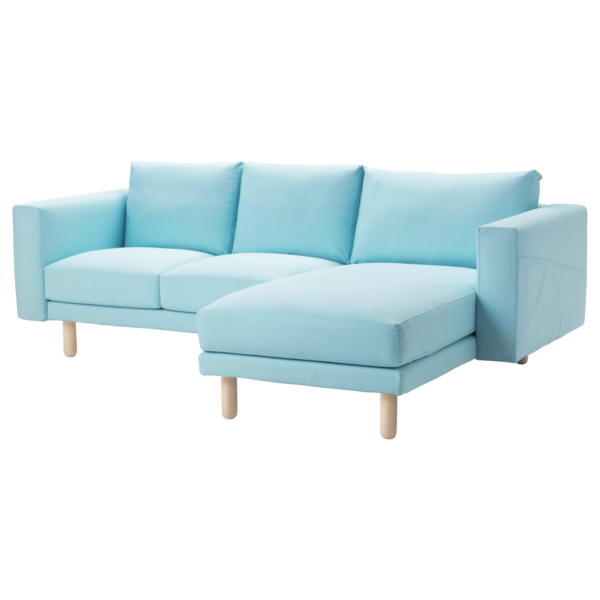 Norsborg Sectional, 3-Seat - Edum Light Blue, Birch - Ikea in Blue Sofa Chairs