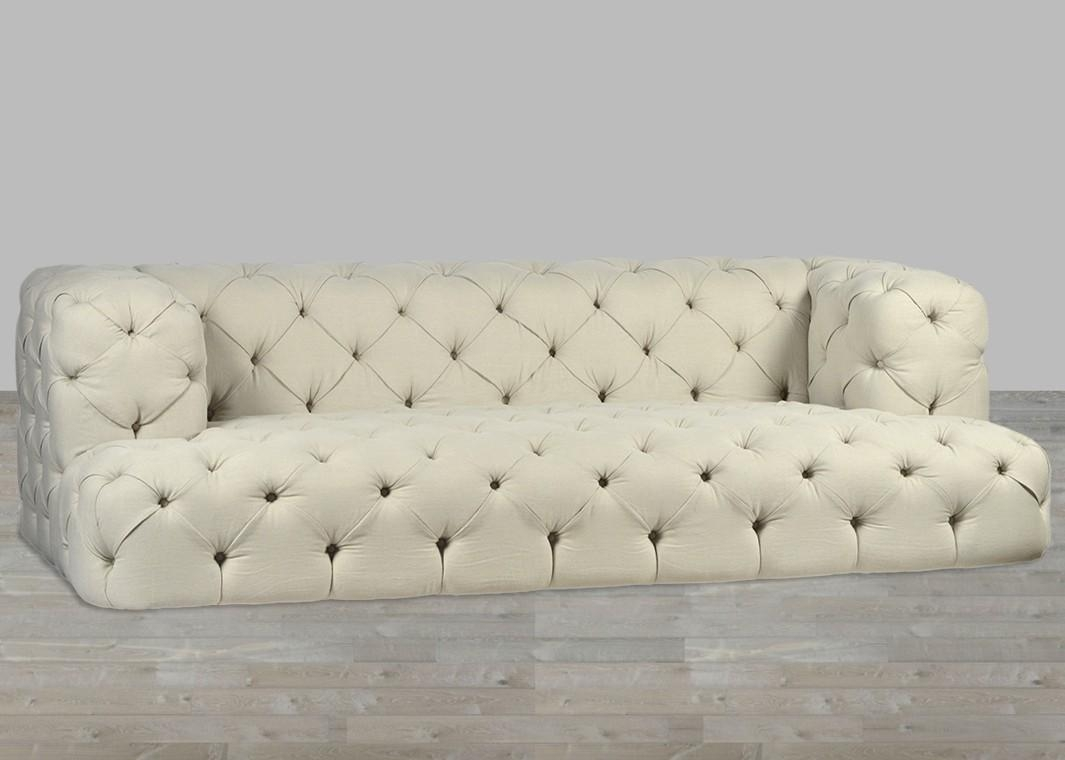 Nottingham Sofa B intended for Tufted Linen Sofas