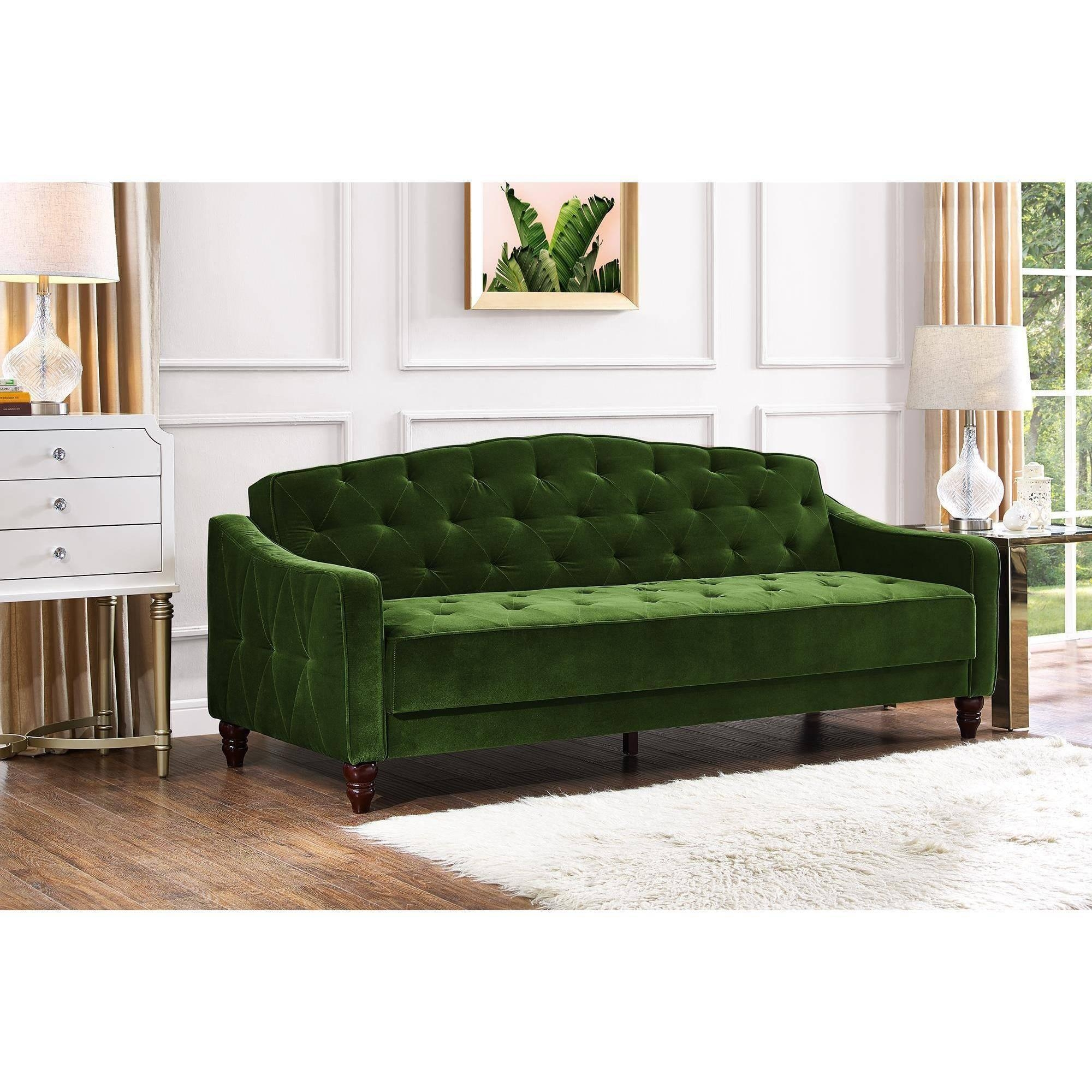 Novogratz Vintage Tufted Sofa Sleeper Ii, Multiple Colors Intended For Tufted Sleeper Sofas (Image 10 of 20)