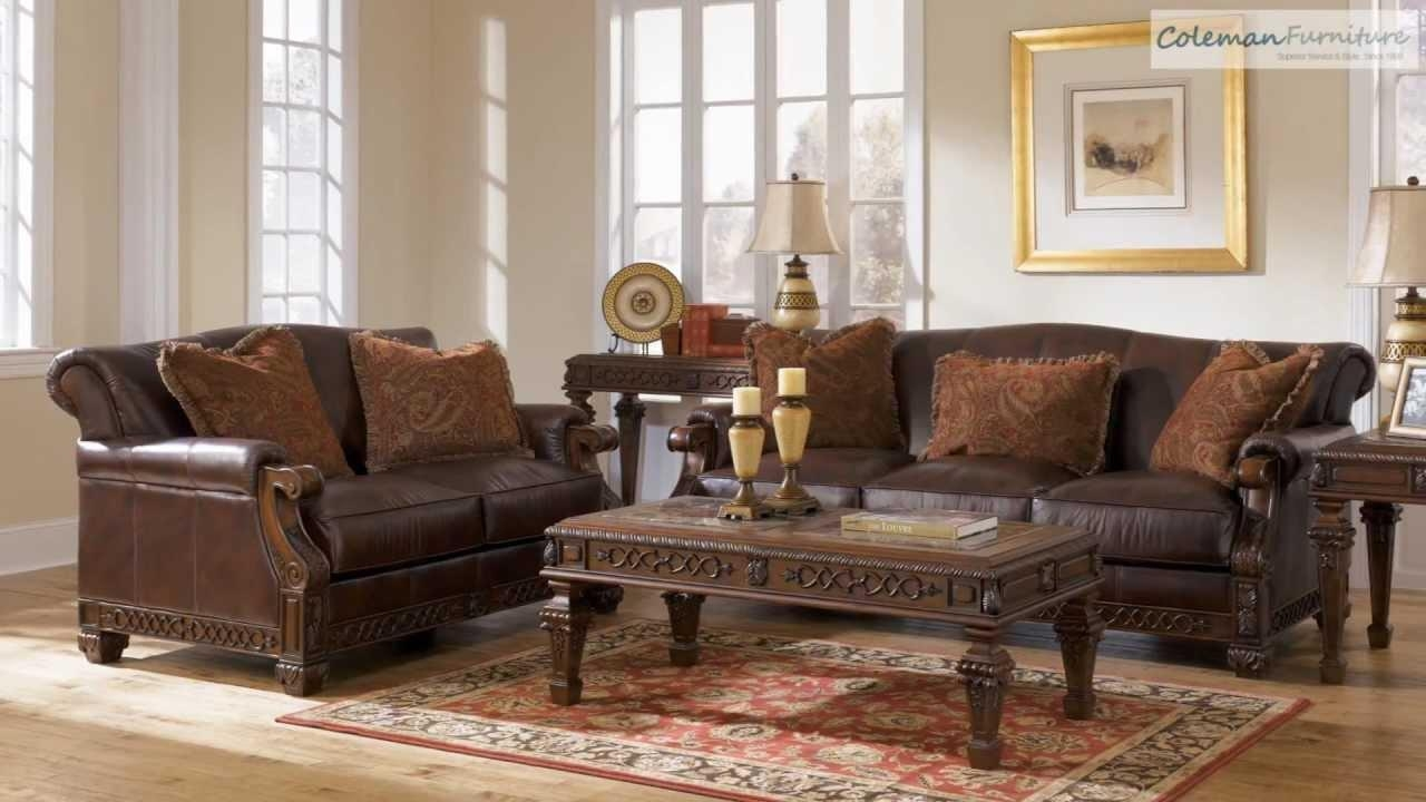 Oakmere Truffle Living Room Collection From Signature Design Within Bradington Truffle Sofas (Image 18 of 20)