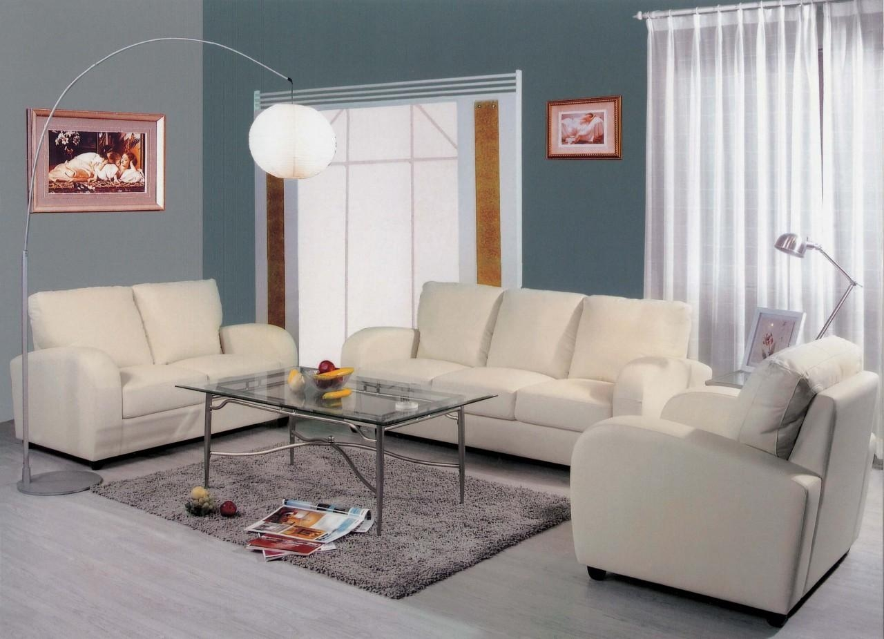 20 best collection of off white leather sofa and loveseat for White on white furniture