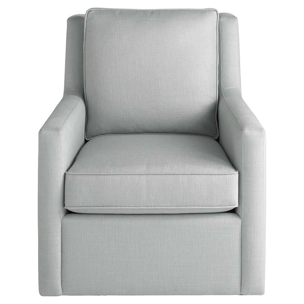 Off White Upholstered Swivel Chair Pertaining To Round Swivel Sofa Chairs (Image 5 of 20)